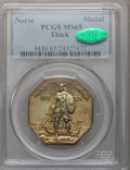 Commemorative Silver: , 1925 Medal Norse Thick Planchet MS65 PCGS. CAC. PCGS Population(186/32). (#9450). From The Color Co...