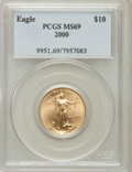 Modern Bullion Coins: , 2000 G$10 Quarter-Ounce Gold Eagle MS69 PCGS. PCGS Population(2334/3). NGC Census: (4701/321). Numismedia Wsl. Price for ...