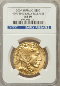 2009 G$50 One-Ounce Gold Buffalo Early Releases MS70 NGC. Ex: .9999 Fine. NGC Census: (0). PCGS Population (10680). (#41...