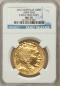 Modern Bullion Coins, 2012 G$50 One-Ounce Gold Buffalo, Early Releases MS70 NGC. Ex: .9999 Fine. NGC Census: (1688). PCGS Population (1204). (#...