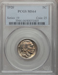 Buffalo Nickels: , 1920 5C MS64 PCGS. PCGS Population (486/351). NGC Census:(328/136). Mintage: 63,093,000. Numismedia Wsl. Price forproblem...
