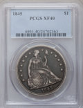 Seated Dollars: , 1845 $1 XF40 PCGS. PCGS Population (30/152). NGC Census: (10/118).Mintage: 24,500. Numismedia Wsl. Price for problem free ...