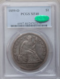 Seated Dollars: , 1859-O $1 XF40 PCGS. CAC. PCGS Population (39/647). NGC Census:(16/444). Mintage: 360,000. Numismedia Wsl. Price for probl...