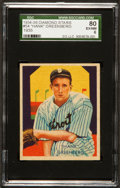 Baseball Cards:Singles (1930-1939), 1934-36 Diamond Stars Hank Greenberg, Correct #54 SGC 80 EX/NM6....