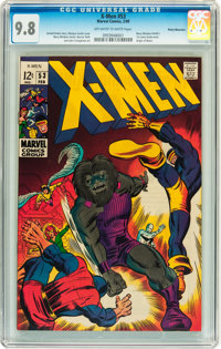 X-Men #53 Rocky Mountain pedigree (Marvel, 1969) CGC NM/MT 9.8 Off-white to white pages