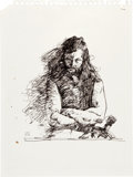 Original Comic Art:Sketches, Jeff Jones Male Figure Sketch Original Art (undated)....
