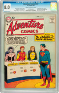 Silver Age (1956-1969):Superhero, Adventure Comics #247 (DC, 1958) CGC VF 8.0 Cream to off-whitepages....