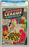 Silver Age (1956-1969):Superhero, Justice League of America #1 (DC, 1960) CGC VF- 7.5 Cream tooff-white pages....
