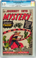Silver Age (1956-1969):Superhero, Journey Into Mystery #83 (Marvel, 1962) CGC FN- 5.5 Cream to off-white pages....