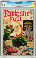 Silver Age (1956-1969):Superhero, Fantastic Four #1 (Marvel, 1961) CGC FN- 5.5 Cream to off-whitepages....