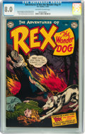 Golden Age (1938-1955):Miscellaneous, Adventures of Rex the Wonder Dog #1 (DC, 1952) CGC VF 8.0 Off-white to white pages....