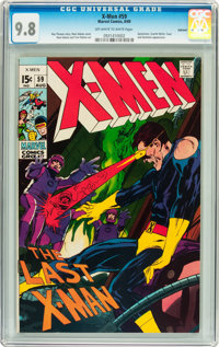 X-Men #59 Oakland pedigree (Marvel, 1969) CGC NM/MT 9.8 Off-white to white pages