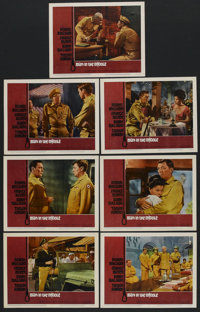 """Man in the Middle (20th Century Fox, 1964). Lobby Cards (7) (11"""" X 14""""). War. ... (Total: 7 Items)"""