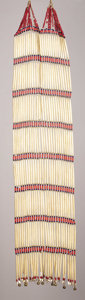 American Indian Art:Beadwork, A SIOUX WOMAN'S BREASTPLATE. c. 1900. ...