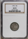 Early Dimes: , 1796 10C AU55 NGC. NGC Census: (19/104). PCGS Population (16/70).Mintage: 22,135. Numismedia Wsl. Price: $8,550. (#4461)...