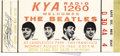 Music Memorabilia:Tickets, Beatles Unused Ticket to Final Performance. The Beatles performed their last concert before paying fans at on August 29, 196... (Total: 1 Item)