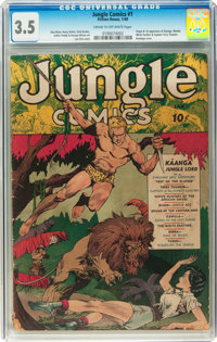 Jungle Comics #1 (Fiction House, 1940) CGC VG- 3.5 Cream to off-white pages