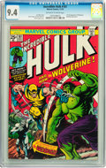 Bronze Age (1970-1979):Superhero, The Incredible Hulk #181 (Marvel, 1974) CGC NM 9.4 Off-white towhite pages....