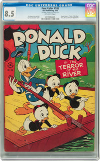 Four Color #108 Donald Duck (Dell, 1946) CGC VF+ 8.5 Off-white pages