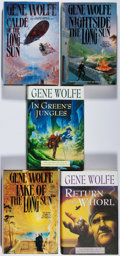 Books:Science Fiction & Fantasy, [Jerry Weist]. Gene Wolfe. Group of Five First Edition Books, Three Signed or Inscribed. 1993-2001. All in fine condition.... (Total: 5 Items)