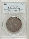 Early Half Dollars, 1806 50C Pointed 6, Stem XF40 PCGS. O-121, R.4....