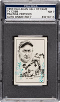Autographs:Sports Cards, Signed 1950 Callahan HoF Ty Cobb PSA/DNA NM 7....