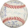 Autographs:Baseballs, 1969 New York Mets Team Signed Baseball with Team Letter!...
