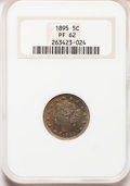 Proof Liberty Nickels: , 1895 5C PR62 NGC. NGC Census: (16/333). PCGS Population (25/445).Mintage: 2,062. Numismedia Wsl. Price for problem free NG...