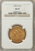 Liberty Eagles: , 1895-S $10 AU55 NGC. NGC Census: (51/62). PCGS Population (41/25).Mintage: 49,000. Numismedia Wsl. Price for problem free ...