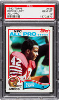 Football Cards:Singles (1970-Now), 1982 Topps Ronnie Lott #486 PSA Gem Mint 10....