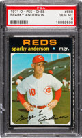 Baseball Cards:Singles (1970-Now), 1971 O-Pee-Chee Sparky Anderson #688 PSA Gem Mint 10 - The Only Gem MT 10! ...