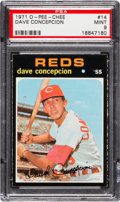 Baseball Cards:Singles (1970-Now), 1971 O-Pee-Chee Dave Concepcion #14 PSA Mint 9 - Pop One, HighestKnown! ...