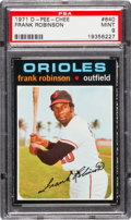 Baseball Cards:Singles (1970-Now), 1971 O-Pee-Chee Frank Robinson #640 PSA Mint 9 - Pop One, NoneHigher! ...