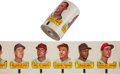 Baseball Cards:Sets, 1966 Topps Rub Offs Uncut Roll With Mantle Showing. ...