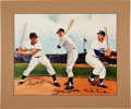 Baseball Collectibles:Others, Willie Mays, Mickey Mantle and Duke Snider Multi Signed Print....