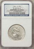 Seated Half Dollars, 1861-O 50C Shipwreck Effect NGC. . Ex: SS Republic. Mintage:2,532,633. (#6303)...