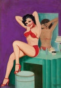 Pin-up and Glamour Art, PETER DRIBEN (American, 1902-1968). Baby, Be Good!, BedtimeStories cover, May 1938. Acrylic on board. 37 x 24.5 in.. Si...