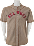 Baseball Collectibles:Uniforms, 1929-30 St. Louis Browns Game Worn Jersey....