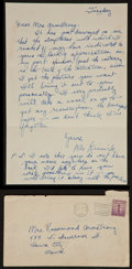 Football Collectibles:Others, 1941 Nile Kinnick Handwritten & Signed Letter....