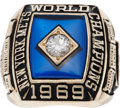 Baseball Collectibles:Others, 1969 New York Mets World Championship Ring Owned by Son of DonClendenon....