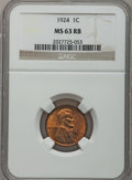 Lincoln Cents: , 1924 1C MS63 Red and Brown NGC. NGC Census: (24/126). PCGSPopulation (44/162). Mintage: 75,178,000. Numismedia Wsl. Price ...