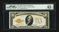 Small Size:Gold Certificates, Fr. 2400 $10 1928 Gold Certificate. PMG Choice Extremely Fine 45 EPQ.. ...