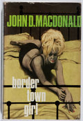 Books:Mystery & Detective Fiction, John D. MacDonald. Border Town Girl. Hale, 1970. FirstBritish edition, first printing. Light rubbing and wear. Very...
