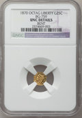 California Fractional Gold: , 1870 25C Liberty Octagonal 25 Cents, BG-759, R.4, -- Bent -- NGCDetails. UNC. NGC Census: (0/6). PCGS Population (5/62). ...