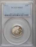 Barber Dimes: , 1911 10C MS63 PCGS. PCGS Population (208/479). NGC Census:(168/413). Mintage: 18,870,544. Numismedia Wsl. Price for proble...