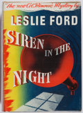 Books:Mystery & Detective Fiction, Leslie Ford. Siren in the Night. Scribners, 1943. Firstedition, first printing. Offsetting. Jacket trimmed. Very go...
