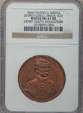 U.S. Presidents & Statesmen, 1864 George McClellan Campaign Medal, Copper MS65 Red and BrownNGC. DeWitt-GMCC-1864-8. Ex: Henry South Collection....