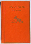 Books:Children's Books, A. A. Milne. Now We Are Six. Dutton, 1927. Later impression.Lacking jacket. Very good....