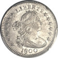 Early Half Dimes, 1800 H10C MS64+ PCGS. CAC. V-1, LM-1, R.3....
