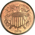 Two Cent Pieces, 1872 2C MS65+ Red PCGS....